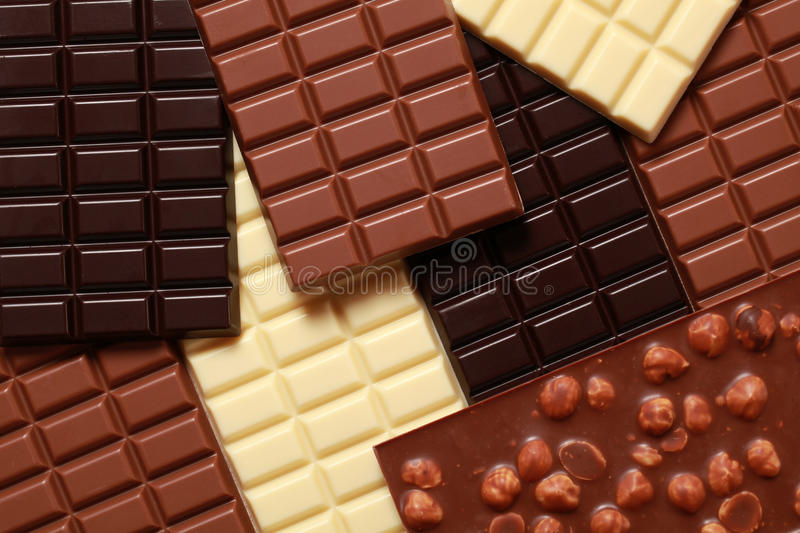 Ramassage de chocolats image stock
