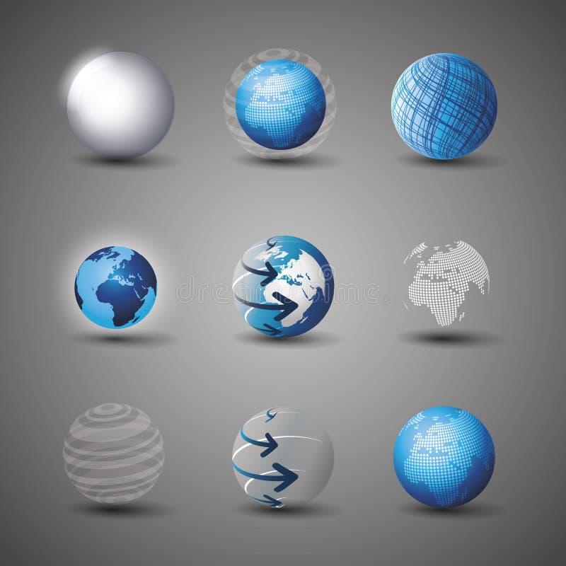 Ramassage de conceptions de globe illustration stock
