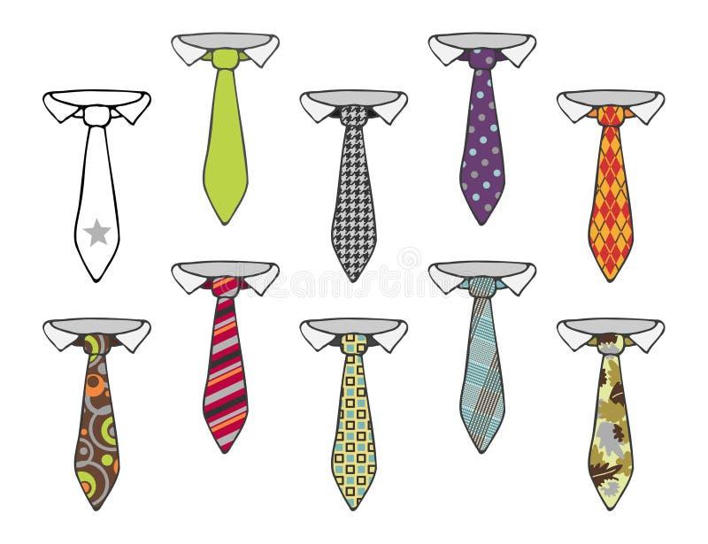 Ramassage de cravates illustration libre de droits