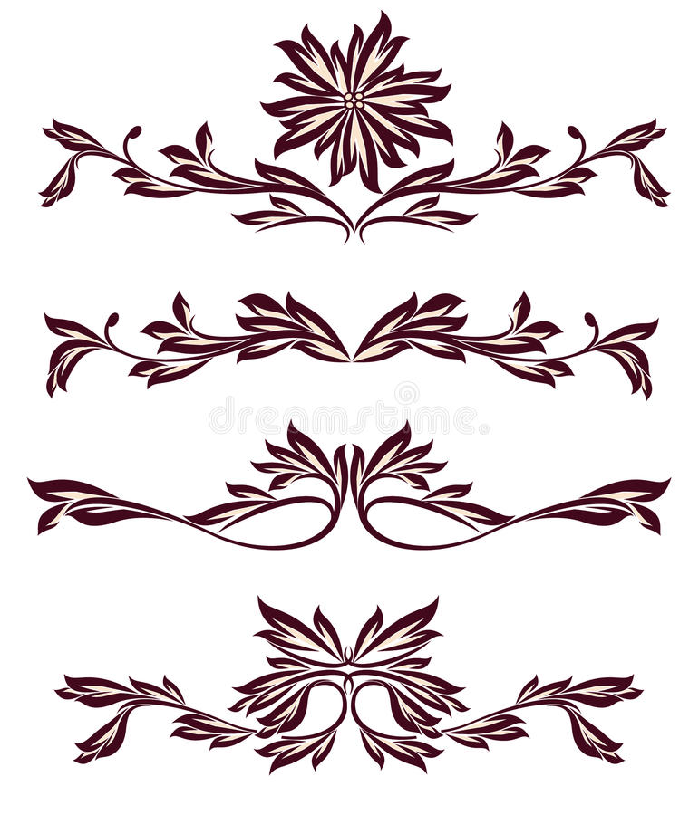 Ramassage de diviseurs de décoration de cru photo stock