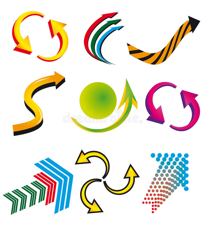 Ramassage de flèches colorées décoratives illustration stock