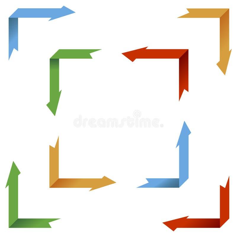 Ramassage de flèches de point de vue illustration de vecteur