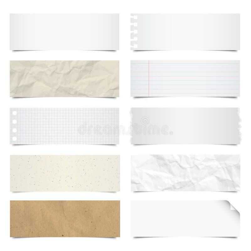 Ramassage de fond de papiers de note. illustration de vecteur
