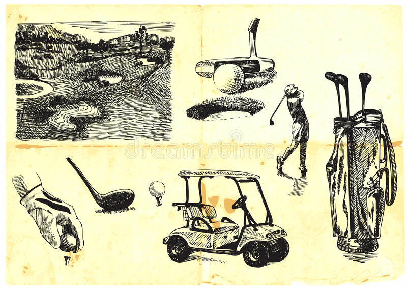 Ramassage de golf illustration libre de droits