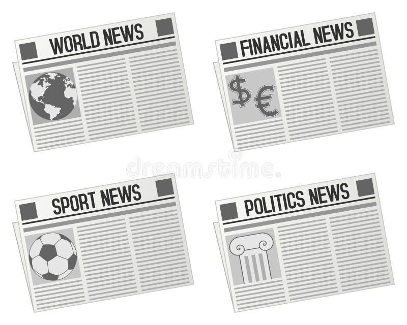Ramassage de graphismes de journal illustration libre de droits