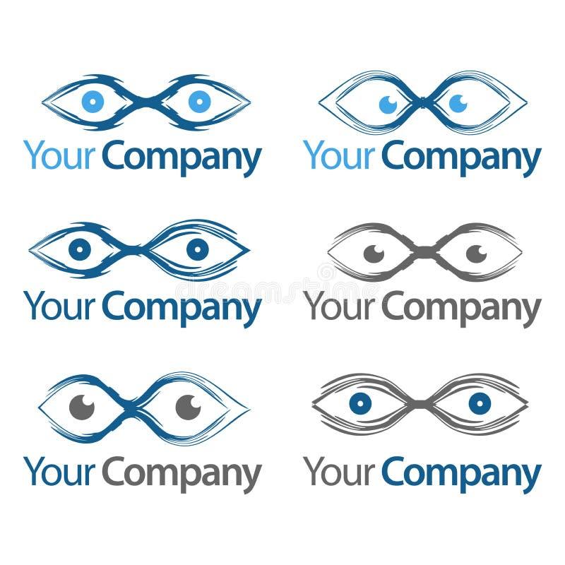 Ramassage de graphismes et de symboles de yeux illustration de vecteur