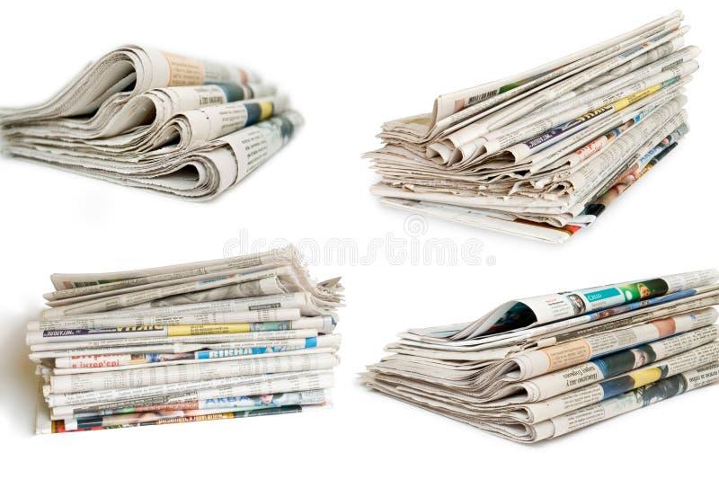 Ramassage de journal photo stock
