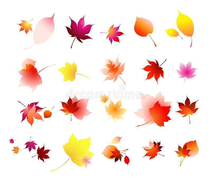 Ramassage de lames d'automne   illustration libre de droits