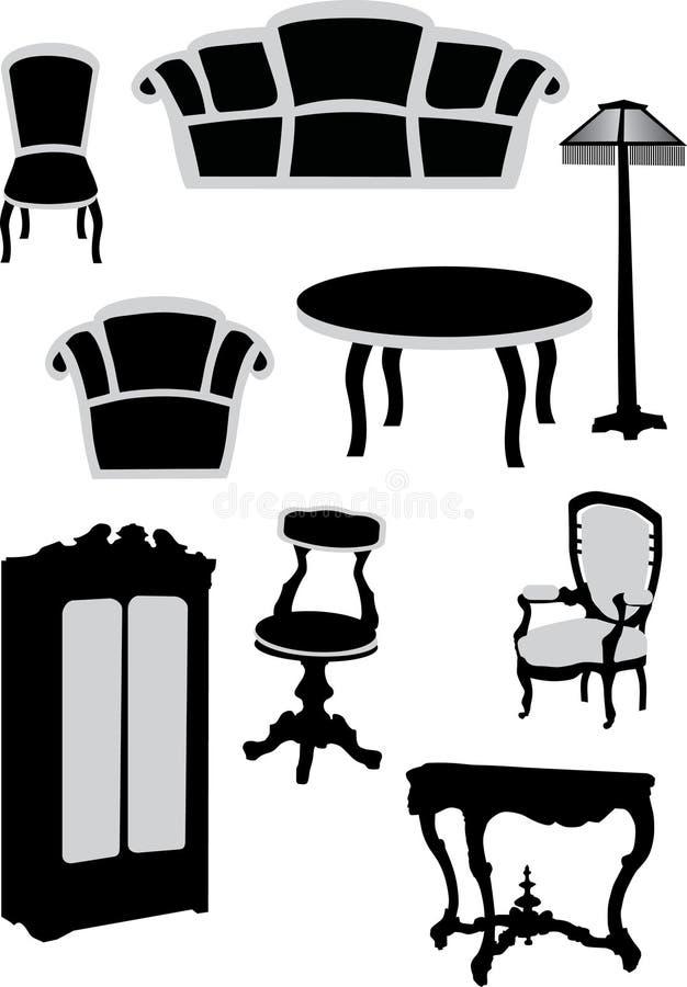 Ramassage de meubles illustration stock