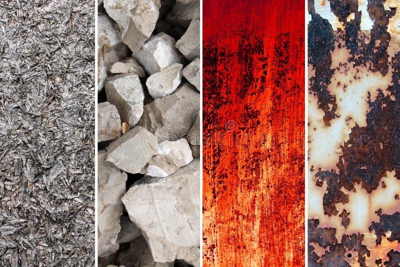 Ramassage de milieux et de différentes textures photo stock