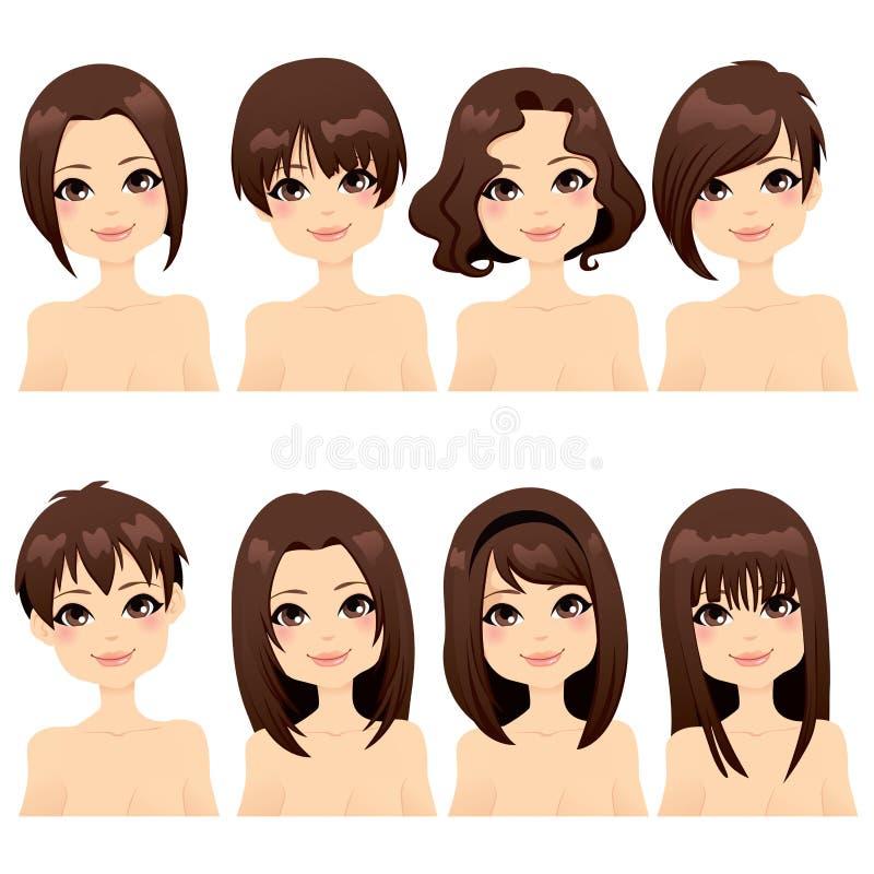 Ramassage de mode de coiffure illustration de vecteur