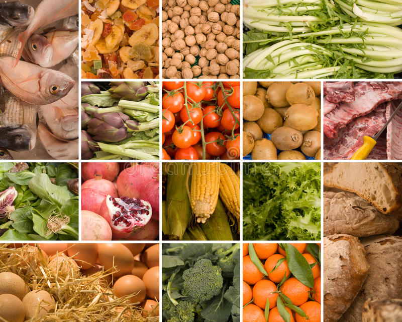 Ramassage de nourriture images stock