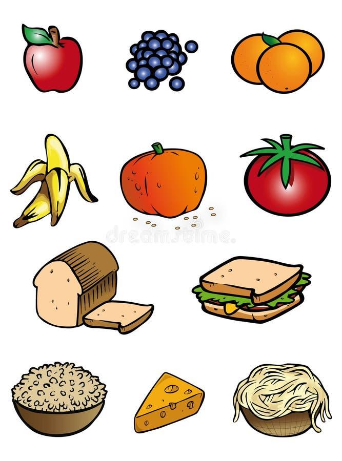Ramassage de nourriture illustration libre de droits