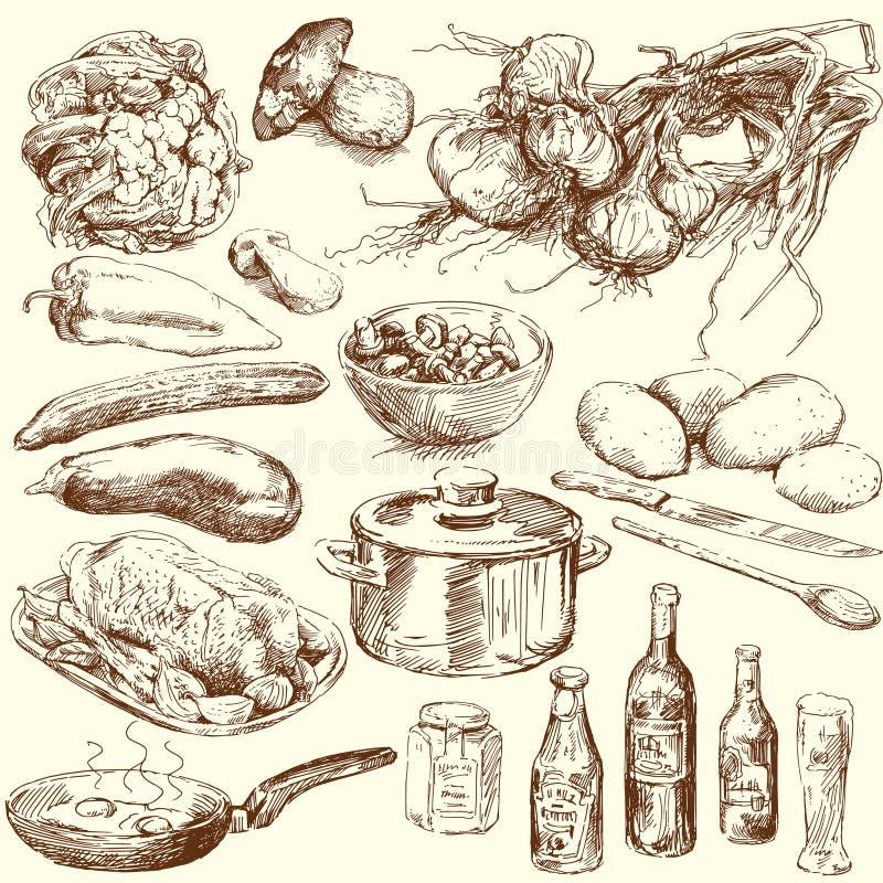 Ramassage de nourriture illustration stock