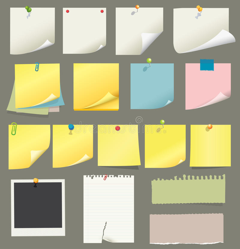Ramassage de papier et de post-it illustration libre de droits