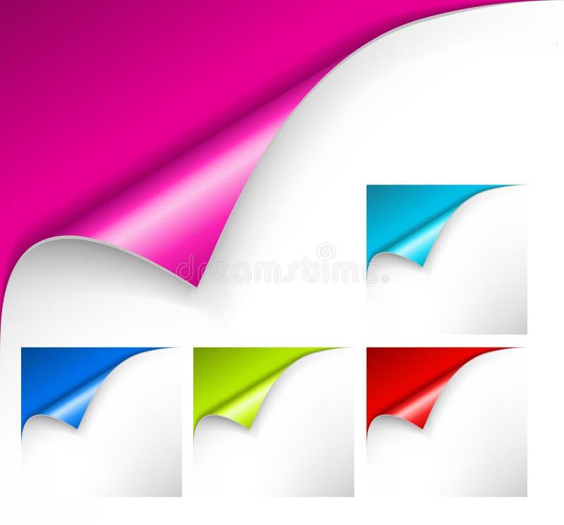 Ramassage de papiers colorés illustration de vecteur