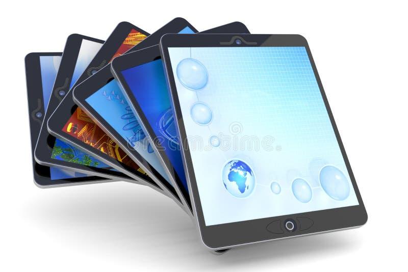 Ramassage de PC de tablette illustration libre de droits