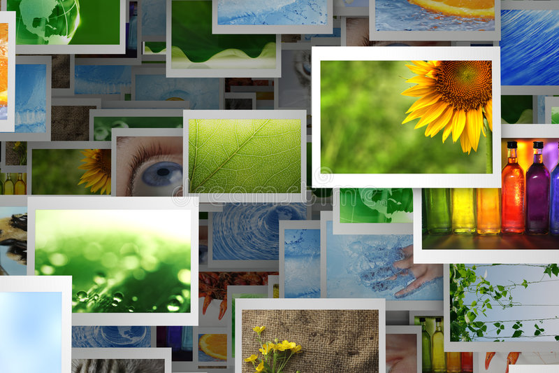 Ramassage de photos illustration stock