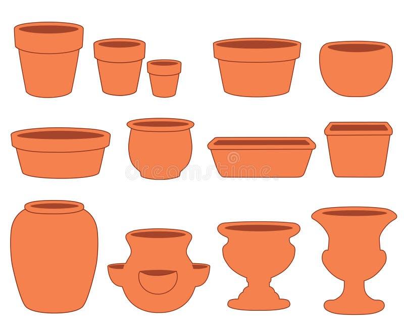 Ramassage de poterie d'argile illustration de vecteur