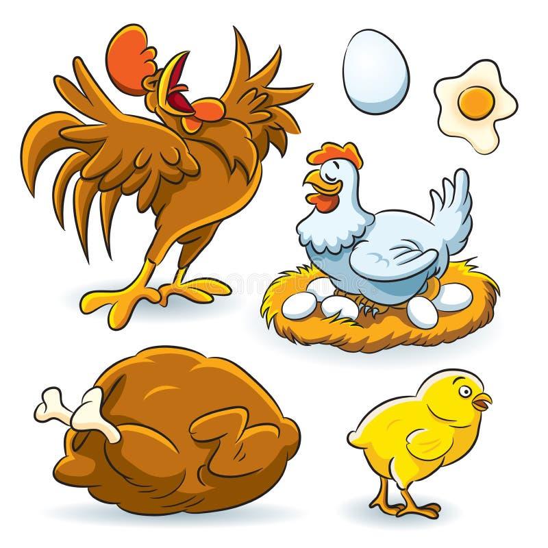 Ramassage de poulet illustration de vecteur