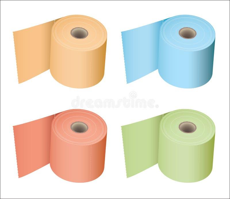 Ramassage de rouleau de papier hygiénique illustration de vecteur