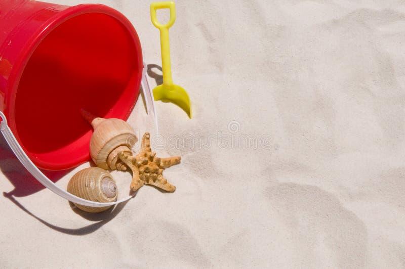 Ramassage de seashells sur la plage image libre de droits