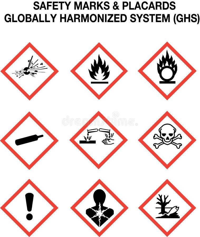 Ramassage de signaux d'avertissement de sécurité illustration libre de droits