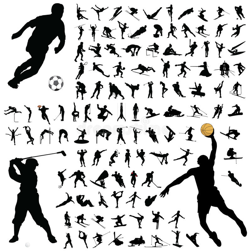 Ramassage de silhouette de sport illustration libre de droits