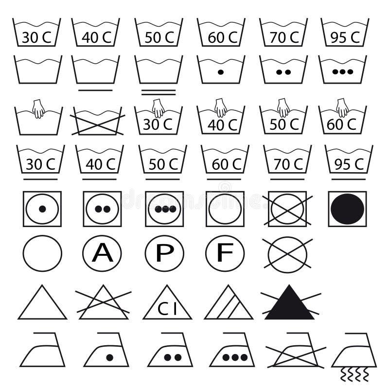 ramassage de symboles pour les v tements de lavage illustration de vecteur illustration du. Black Bedroom Furniture Sets. Home Design Ideas