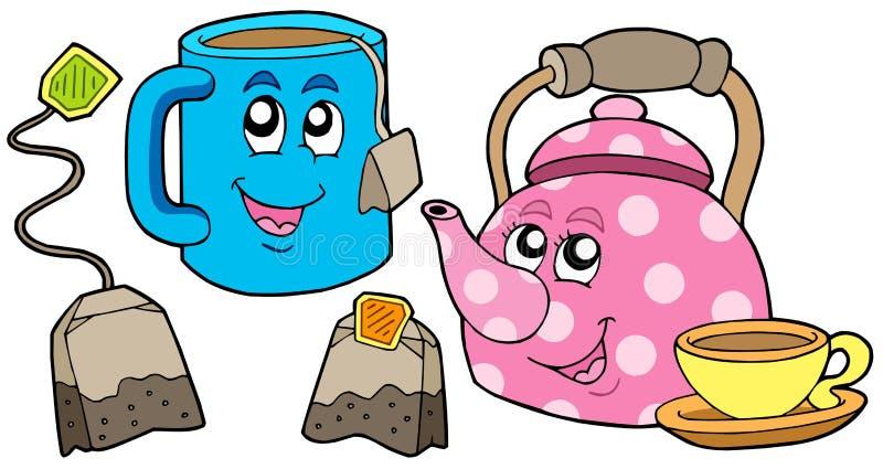 Ramassage de thé illustration de vecteur