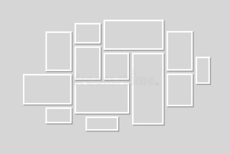 Ramassage de trames noires Vecteur de cadre de tableau illustration libre de droits
