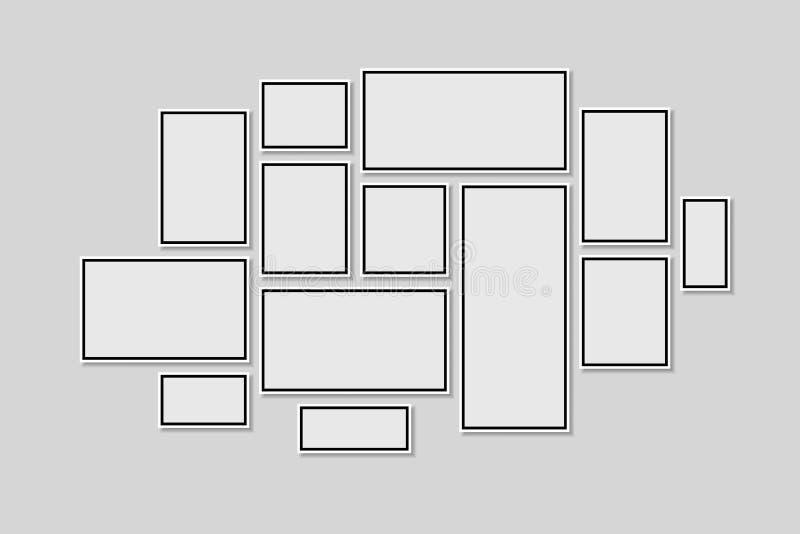 Ramassage de trames noires Vecteur de cadre de tableau illustration de vecteur