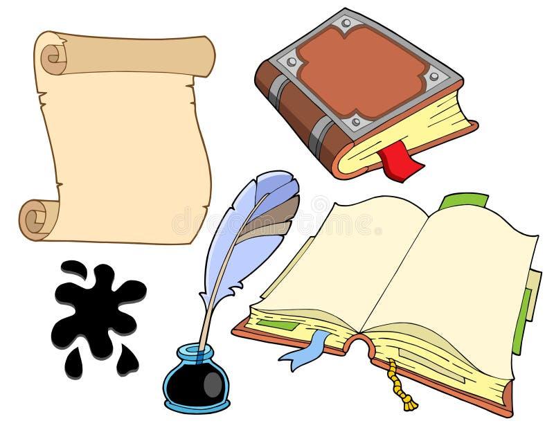 Ramassage de vieux livres illustration libre de droits