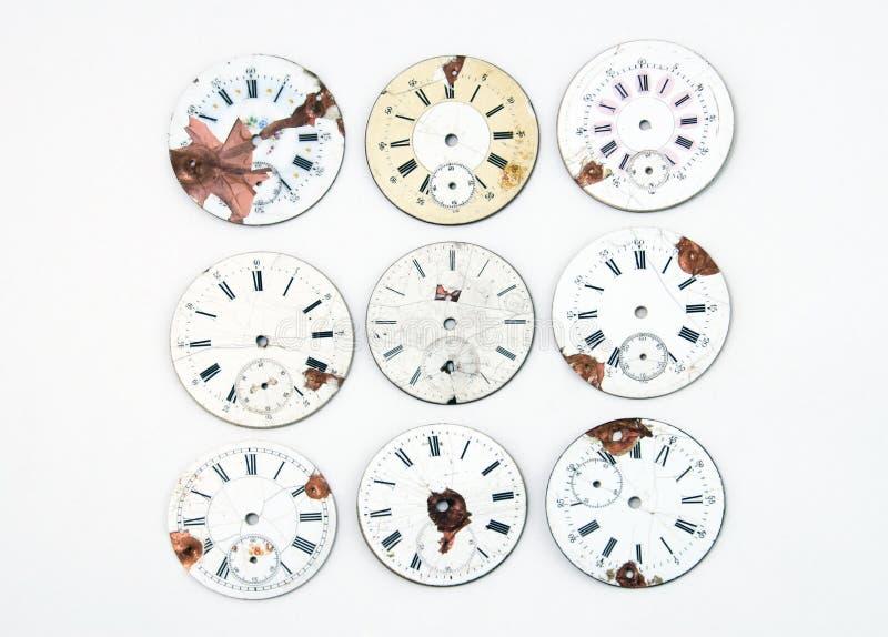 Ramassage de visages antiques de montre image stock