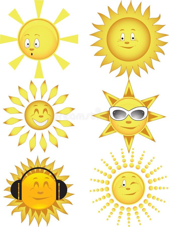 Ramassage du soleil. Illustration de vecteur illustration stock