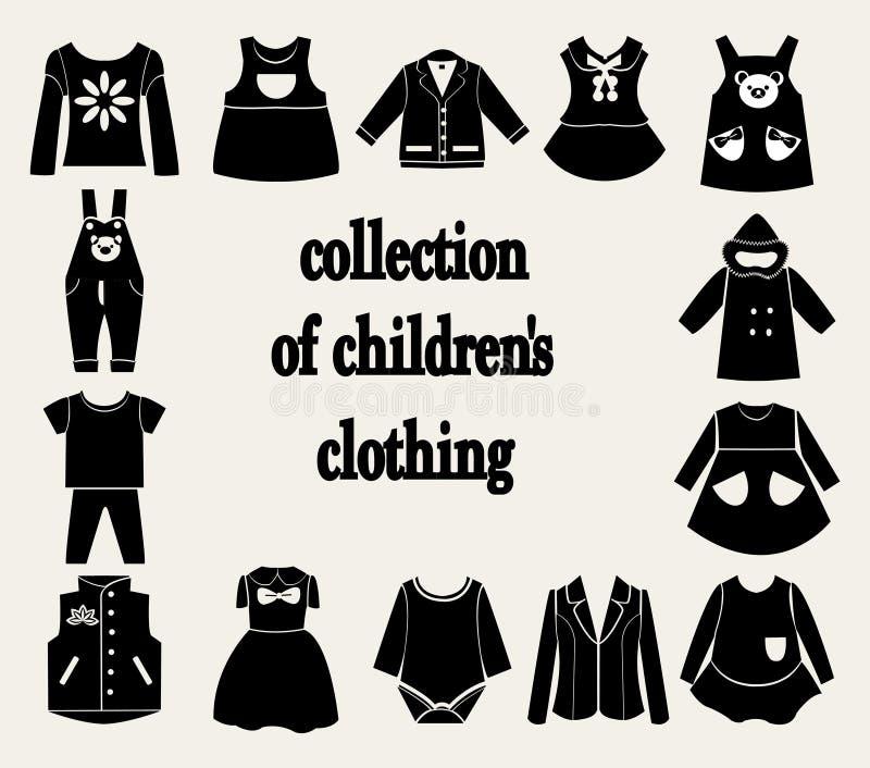 Ramassage du vêtement des enfants illustration libre de droits