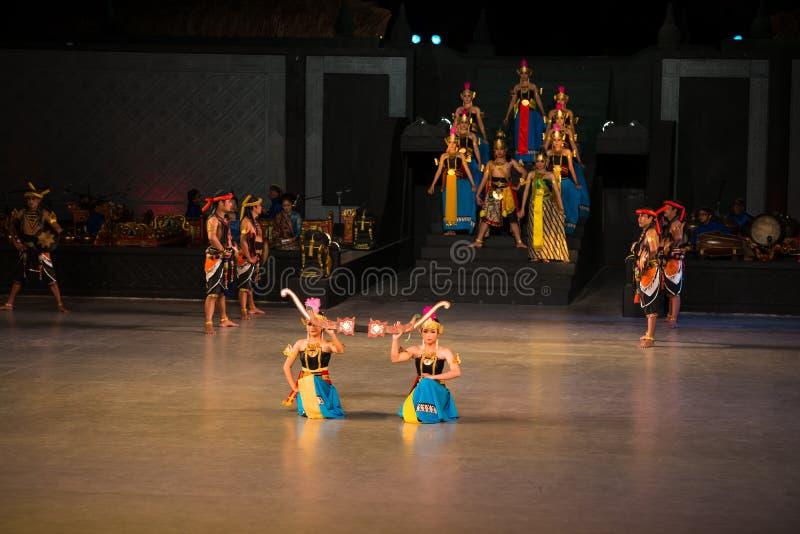 Ramayana Ballet at at Prambanan, Indonesia. YOGYAKARTA, INDONESIA - SEP 12: Ramayana Ballet show at Prambanan temple on SEP 12, 2012 in Yogyakarta, Indonesia. It royalty free stock images
