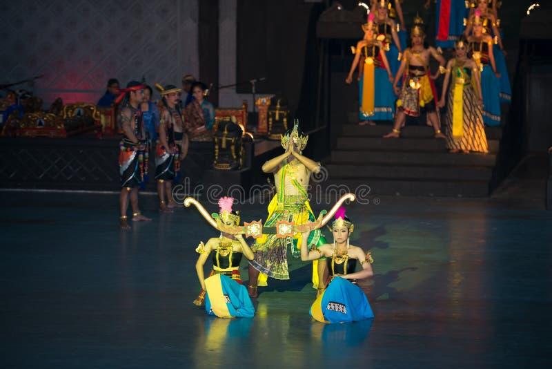 Ramayana Ballet at at Prambanan, Indonesia. YOGYAKARTA, INDONESIA - SEP 12: Ramayana Ballet show at Prambanan temple on SEP 12, 2012 in Yogyakarta, Indonesia. It stock image