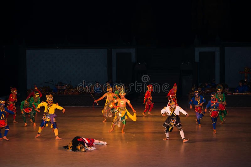 Ramayana Ballet at at Prambanan, Indonesia. YOGYAKARTA, INDONESIA - SEP 12: Ramayana Ballet show at Prambanan temple on SEP 12, 2012 in Yogyakarta, Indonesia. It stock images
