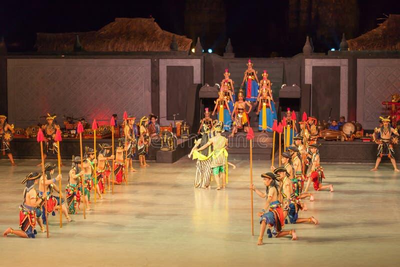 Ramayana Ballet at at Prambanan, Indonesia. YOGYAKARTA, INDONESIA - SEP 12: Ramayana Ballet show at Prambanan temple on SEP 12, 2012 in Yogyakarta, Indonesia. It royalty free stock image