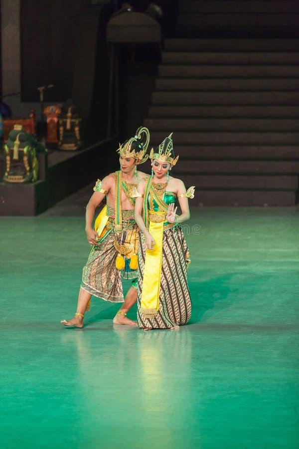 Ramayana Ballet at at Prambanan, Indonesia. YOGYAKARTA, INDONESIA - SEP 12: Ramayana Ballet show at Prambanan temple on SEP 12, 2012 in Yogyakarta, Indonesia. It royalty free stock photo