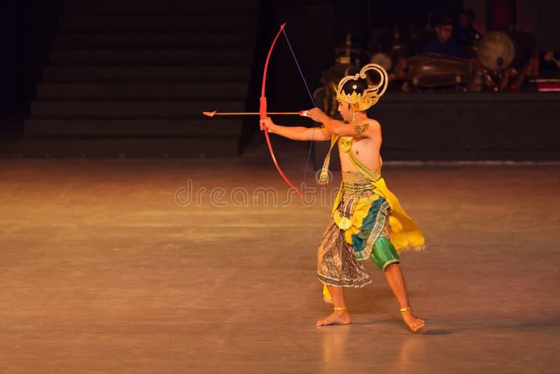 Ramayana Ballet at at Prambanan, Indonesia. YOGYAKARTA, INDONESIA - SEP 12: Ramayana Ballet show at Prambanan temple on SEP 12, 2012 in Yogyakarta, Indonesia. It stock photo