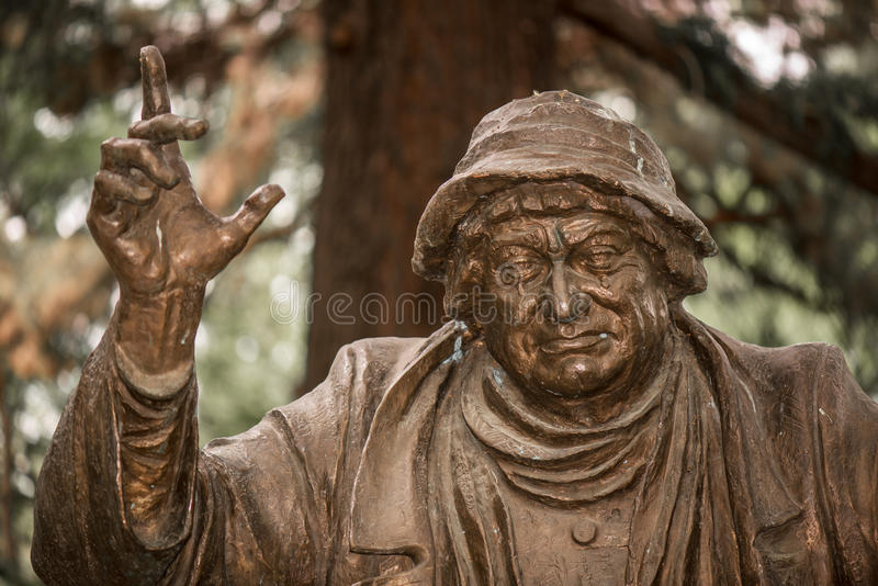 Ramaz Chkhikvadze Statue in April Park stock image