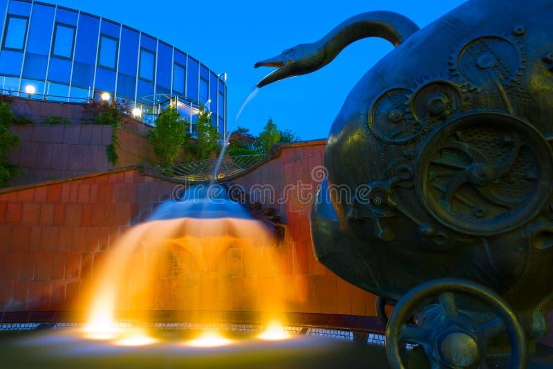 Ramba Treppe喷泉在皮尔马森斯,德国 库存照片