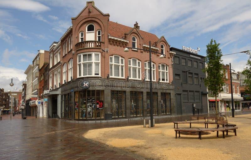 Rambam cajgów sklep w Eindhoven, holandie fotografia royalty free