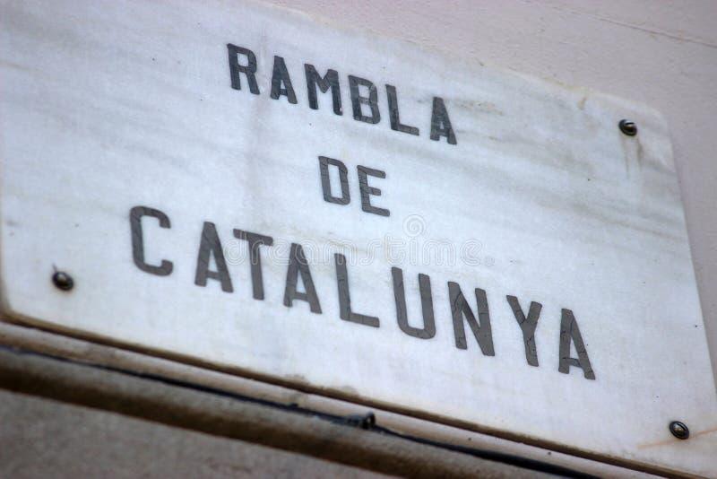 Rambla de Catalunya imagem de stock