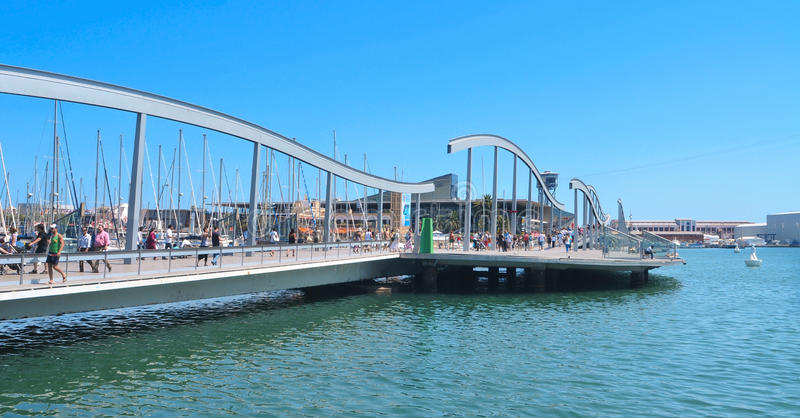 Download Rambla De Mar And Port Vell In Barcelona, Spain Editorial Photography - Image: 23763087
