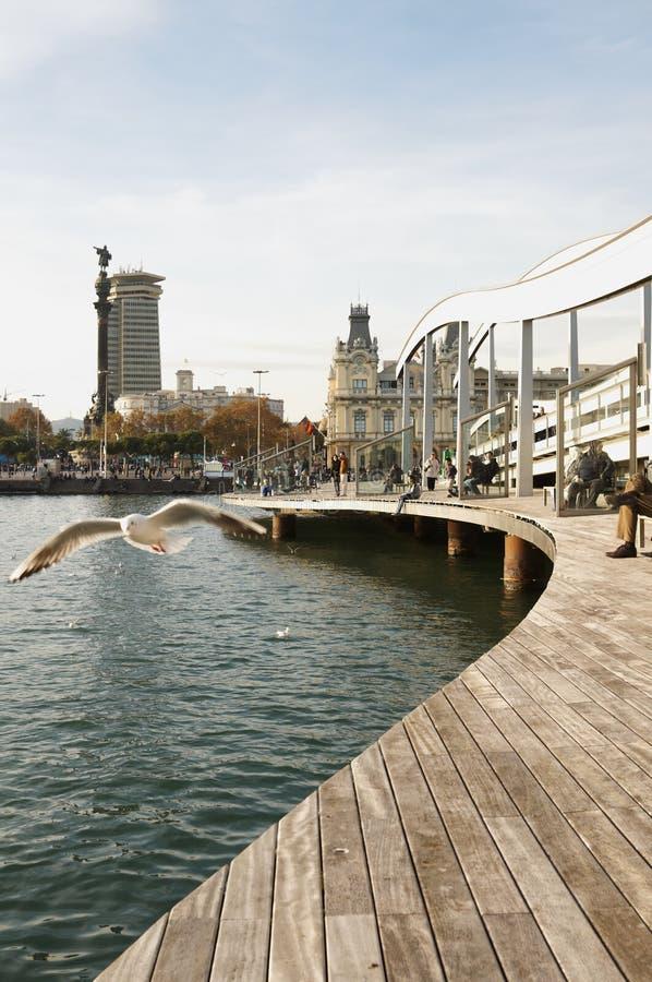 Rambla Del Mar, Barcelone images stock
