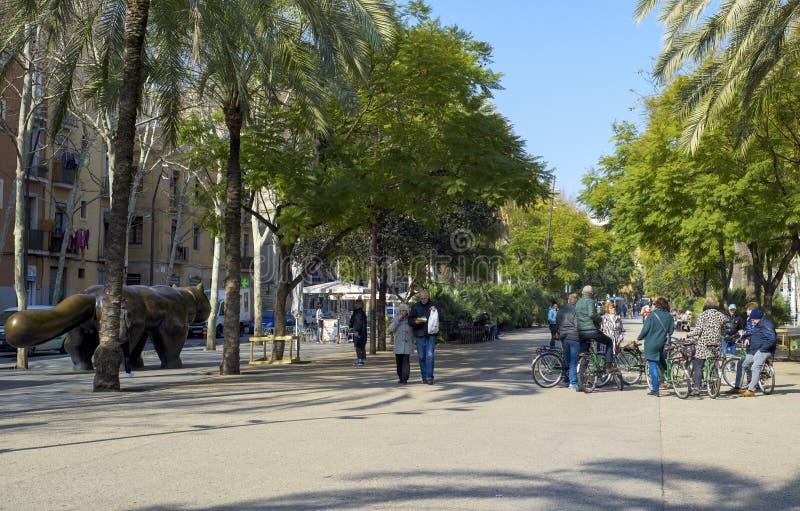 Rambla del Raval à Barcelone, Espagne image libre de droits