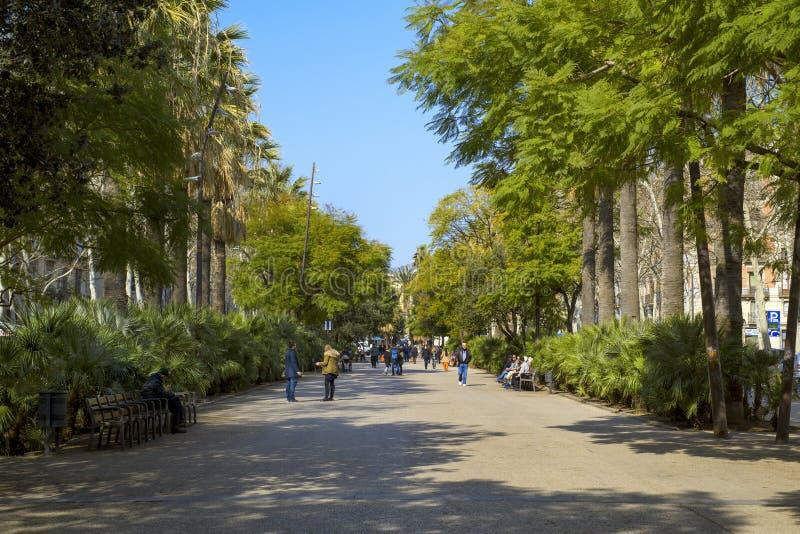 Rambla del Raval à Barcelone, Espagne photo libre de droits